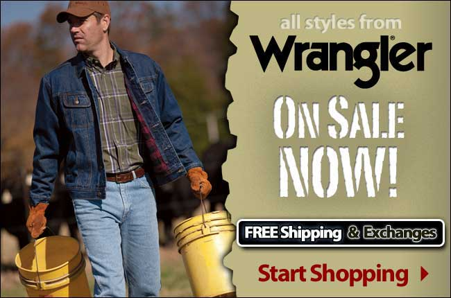 All Wrangler Products On Sale Now with FREE Shipping and Exchanges!