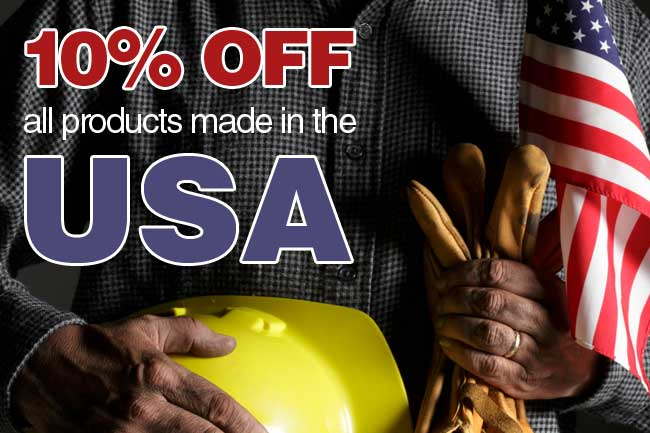 Now through July 4th get 10% off all products made in the USA!  Use coupon code USA2012 at checkout.
