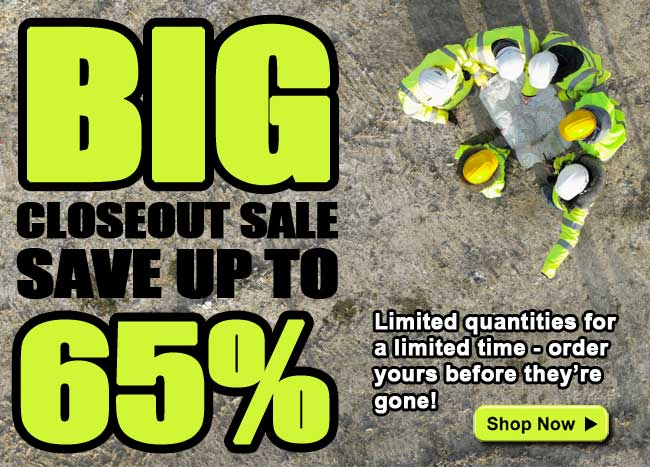 BIG Clearance Sale! Save up to 65%! Limited quantities for a limited time - order yours before they're gone!