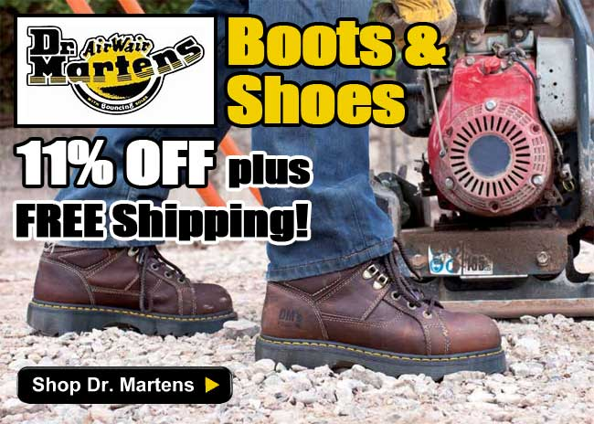 Dr. Martens Boots and Shoes 11% Off plus FREE Shipping! Limited Time Offer - Order Yours Today!