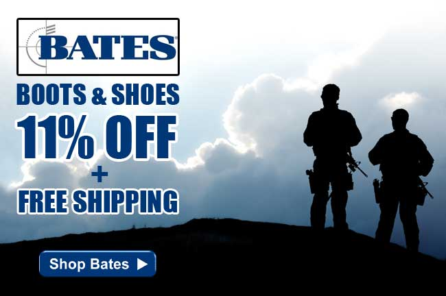 Bates Boots & Shoes 11% Off + FREE Shipping for a Limited Time - Order Yours Today!