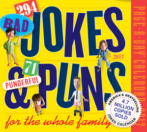 294 Bad Jokes & 71 Punderful Puns Page-A-Day Calendar 2017 - cover