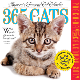 365 Cats Page-A-Day Calendar 2017 - cover