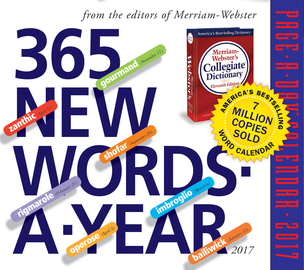 365 New Words-A-Year Page-A-Day Calendar 2017 - cover