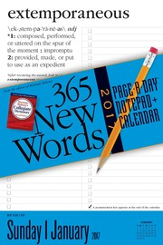 365 New Words Notepad + Calendar 2017 - cover