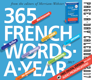365 French Words-A-Year Page-A-Day Calendar 2017 - cover