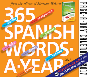 365 Spanish Words-A-Year Page-A-Day Calendar 2017 - cover