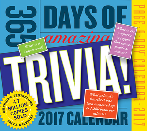 365 Days of Amazing Trivia! Page-A-Day Calendar 2017 - cover