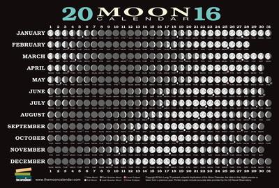 2016 Moon Calendar Card   The Experiment