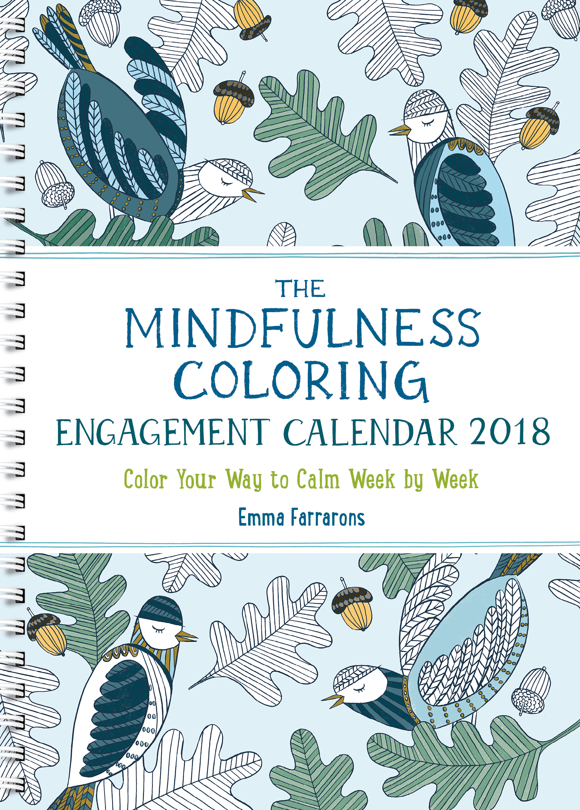 The Mindfulness Coloring Book Review : The Mindfulness Coloring Engagement Calendar 2018 The Experiment
