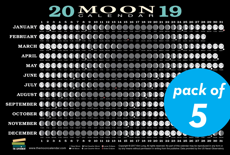2019 Moon Calendar Card | The Experiment