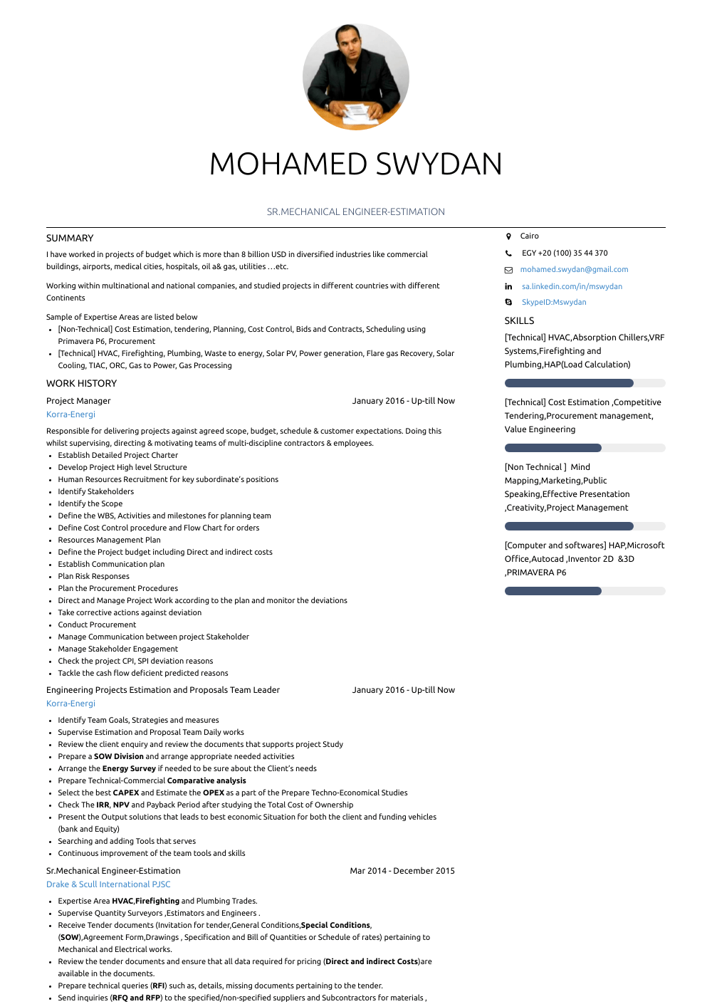 Mechanic Resume Sample
