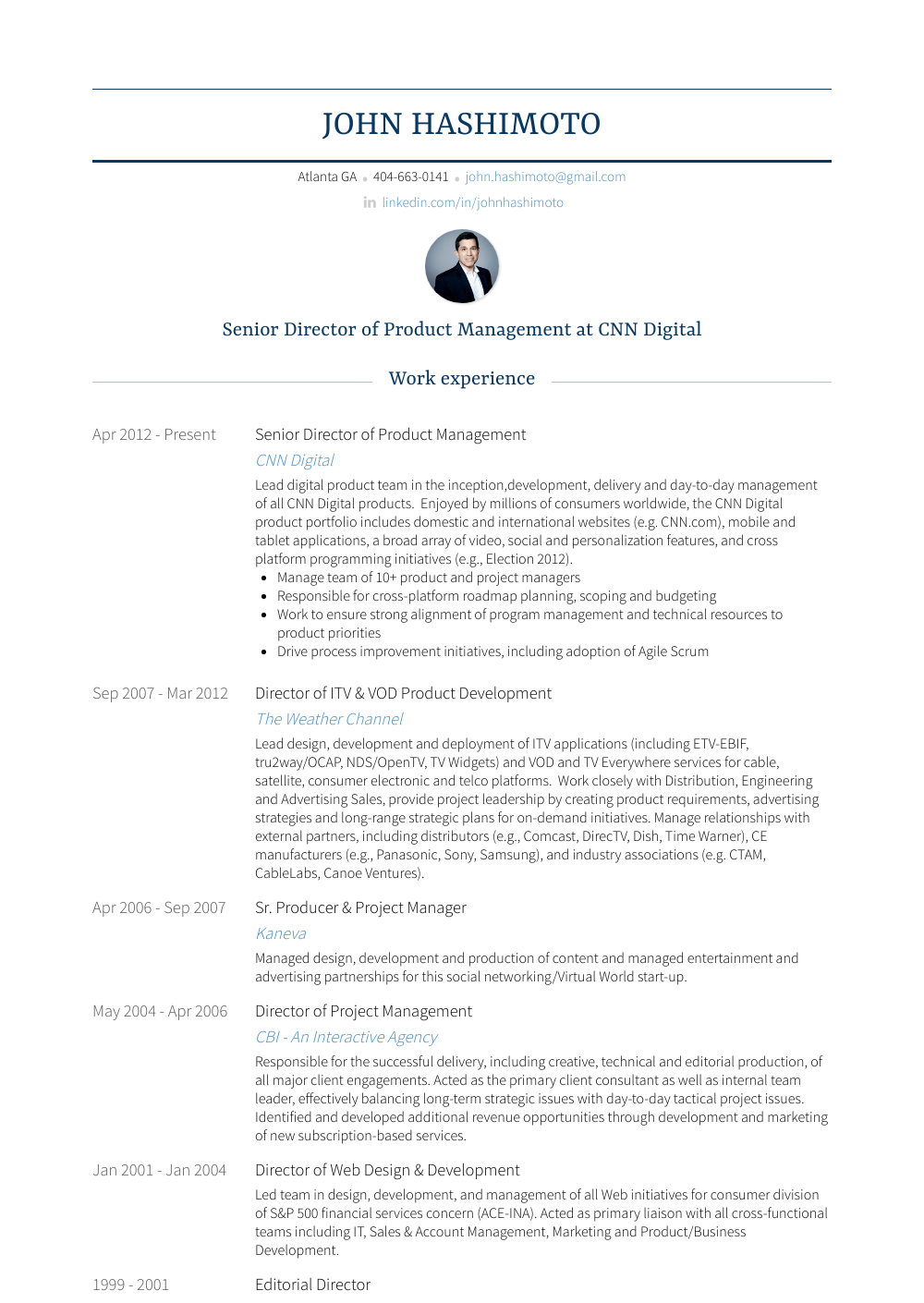 product management resume samples