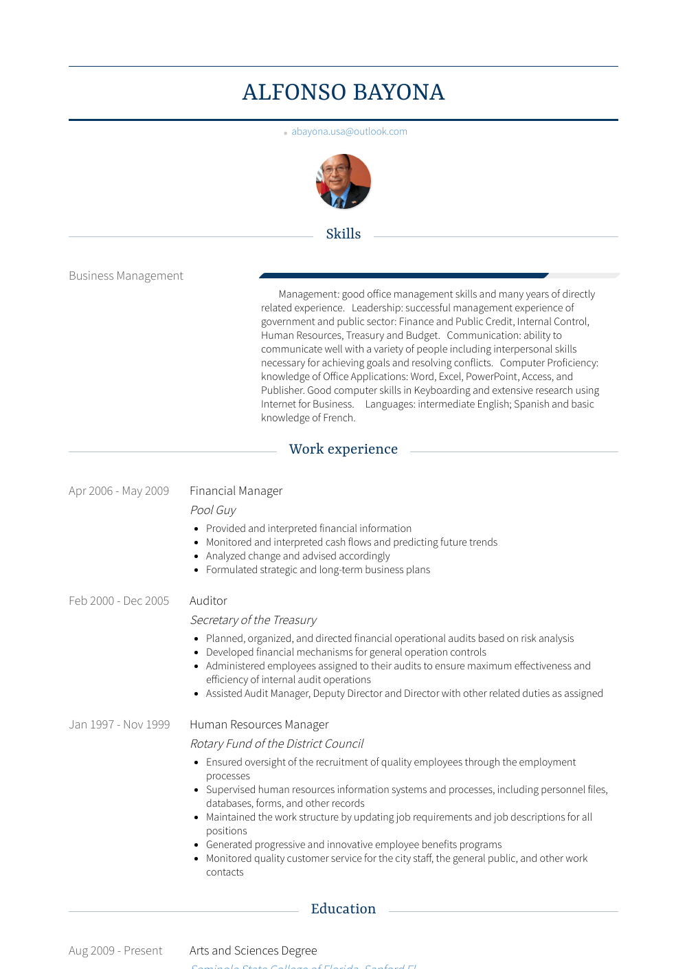 Financial Manager Resume Samples And Templates Visualcv