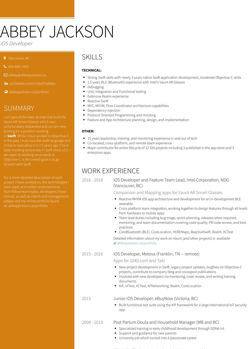Painter Resume Samples Templates Visualcv