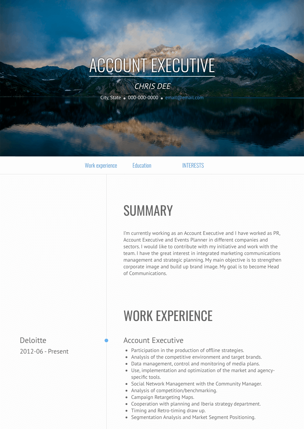 Account Executive Resume Samples Templates Visualcv