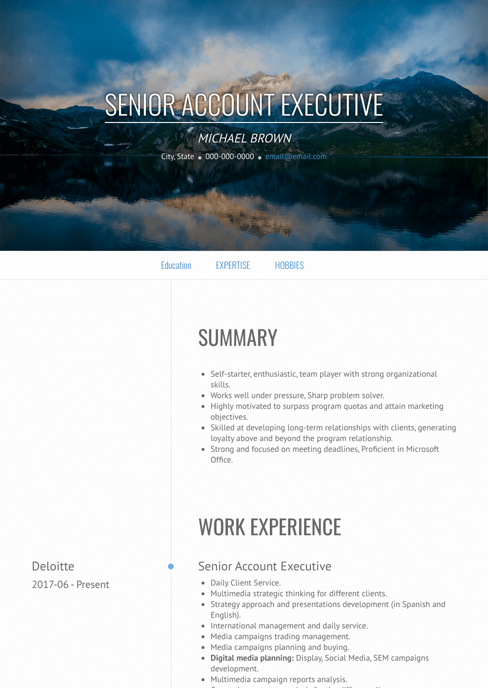 Accounts Executive - Resume Samples and Templates | VisualCV