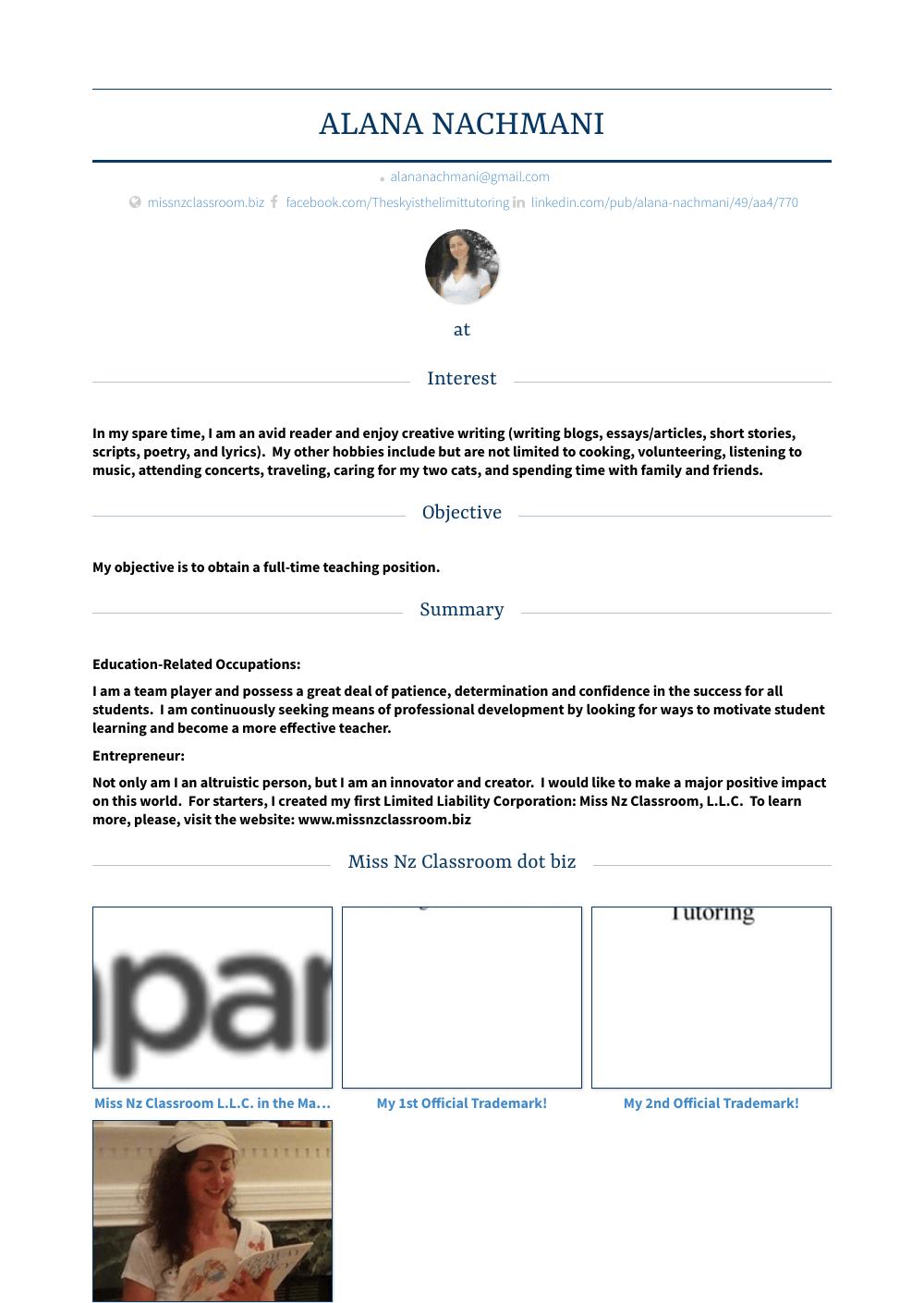 Paraprofessional Resume Sample