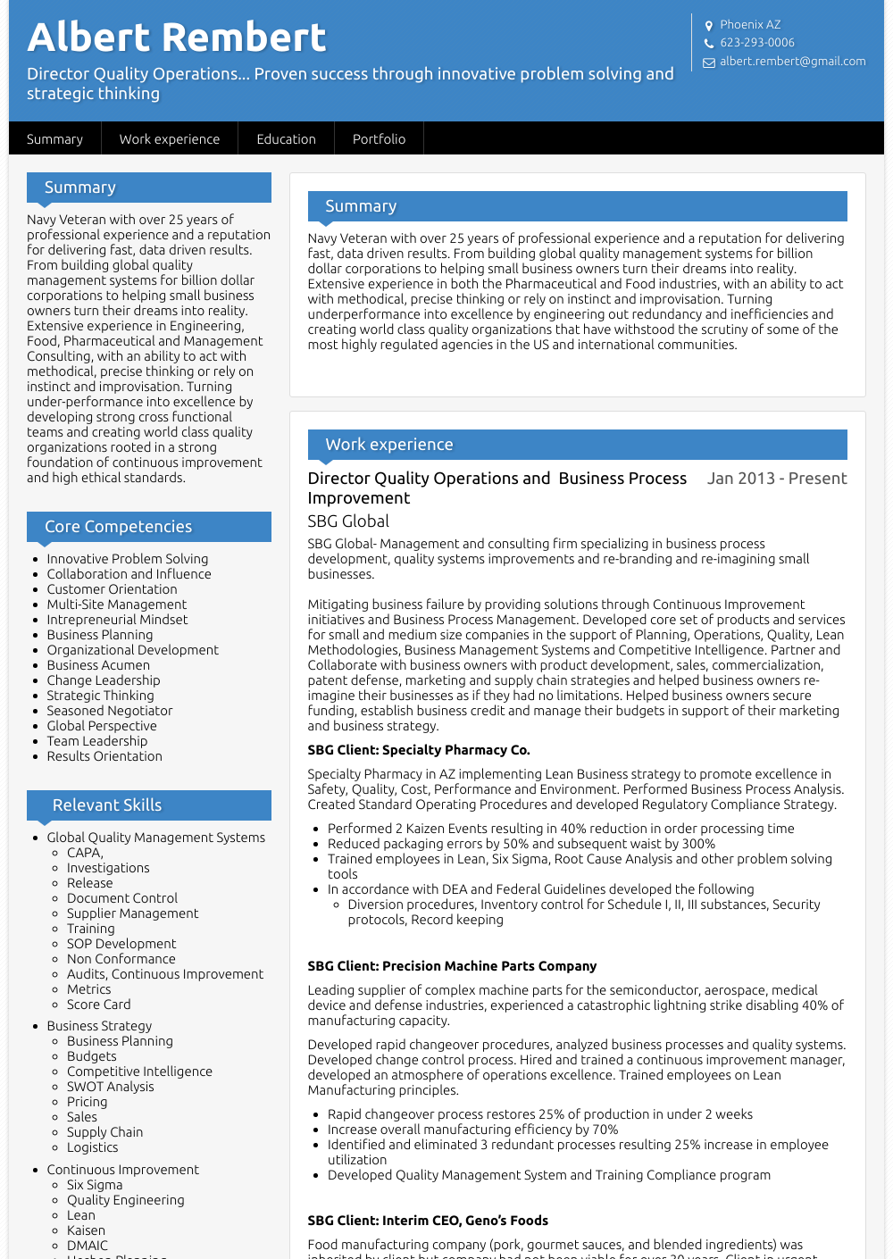 Vice President Operations - Resume Samples & Templates