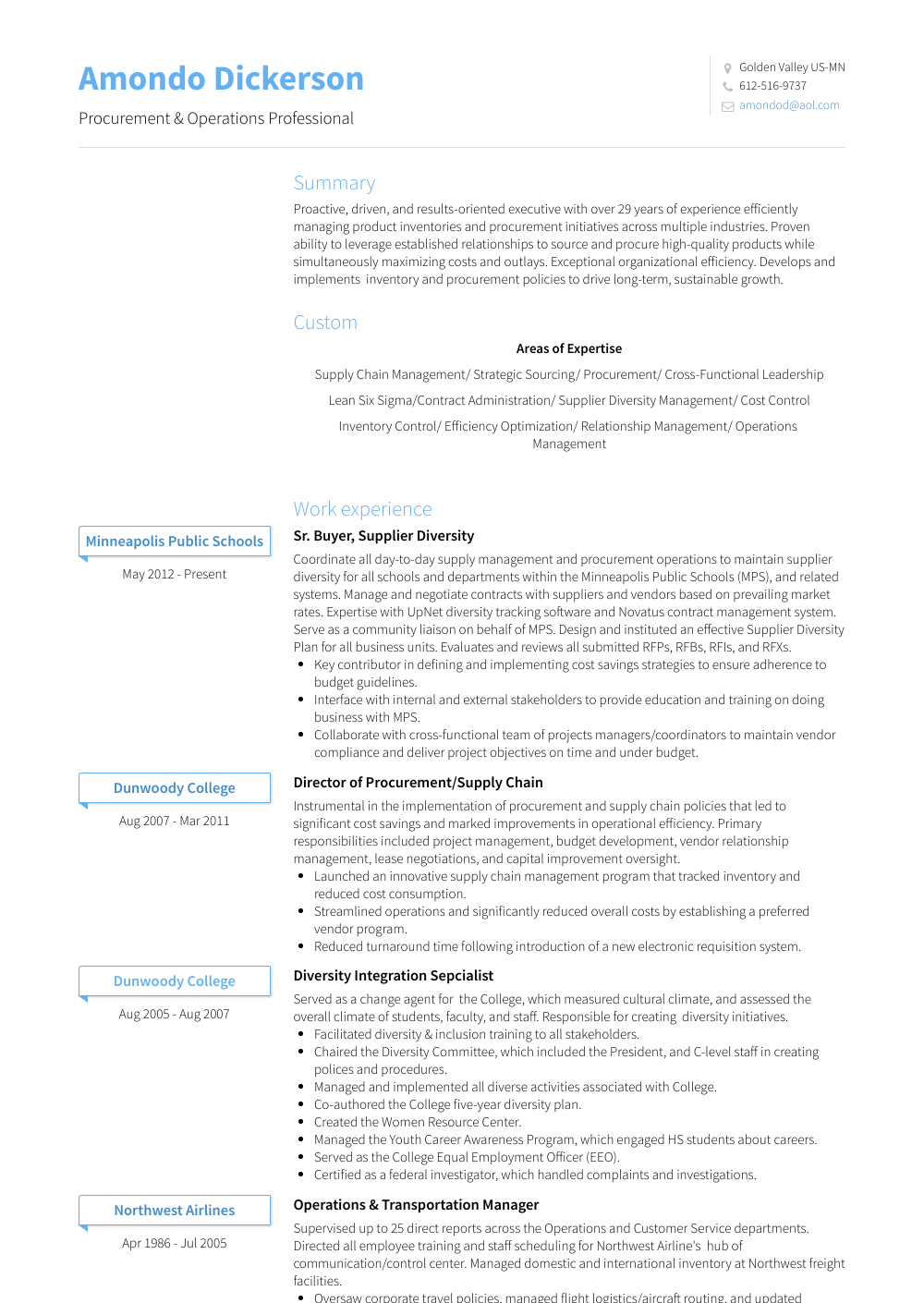Buyer Resume Samples And Templates Visualcv