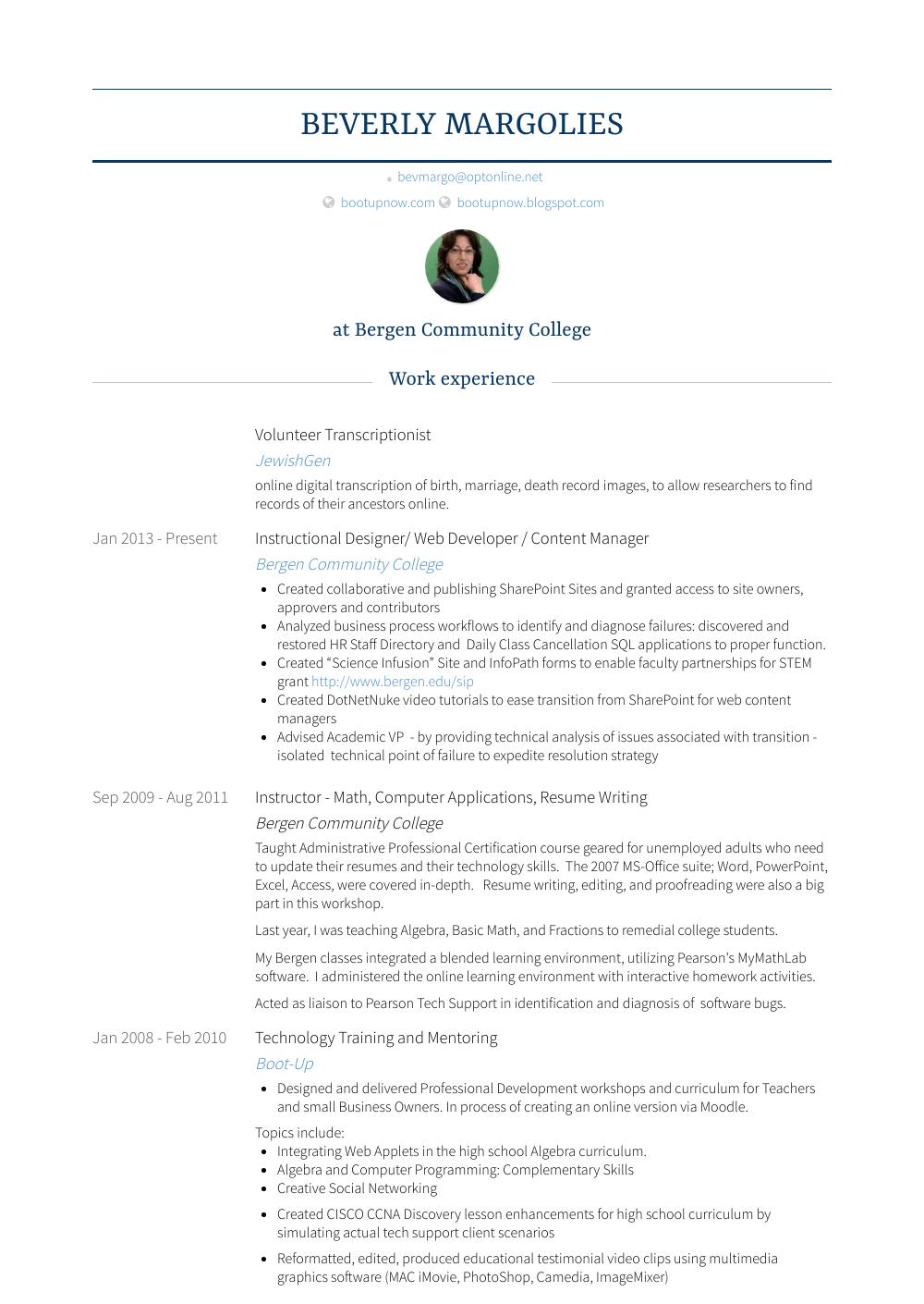 volunteer skills for resumes