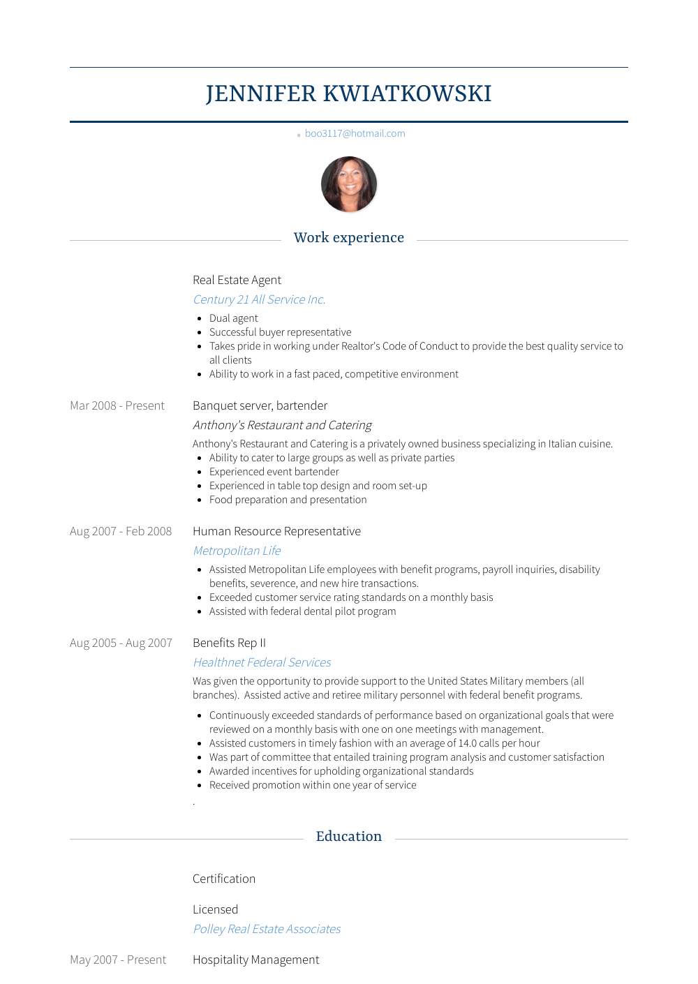 Real Estate Agent Resume Sample and Template