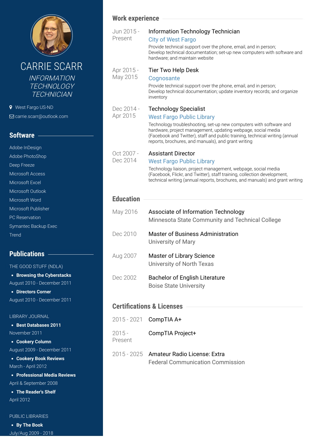technology specialist  resume samples and templates