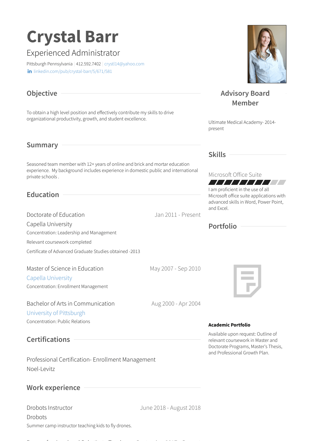 Division Manager Resume Sample