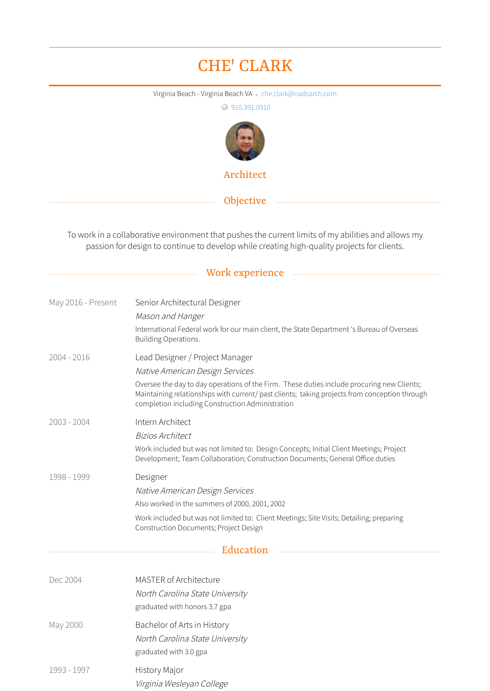 Lead Designer / Project Manager Resume Sample and Template