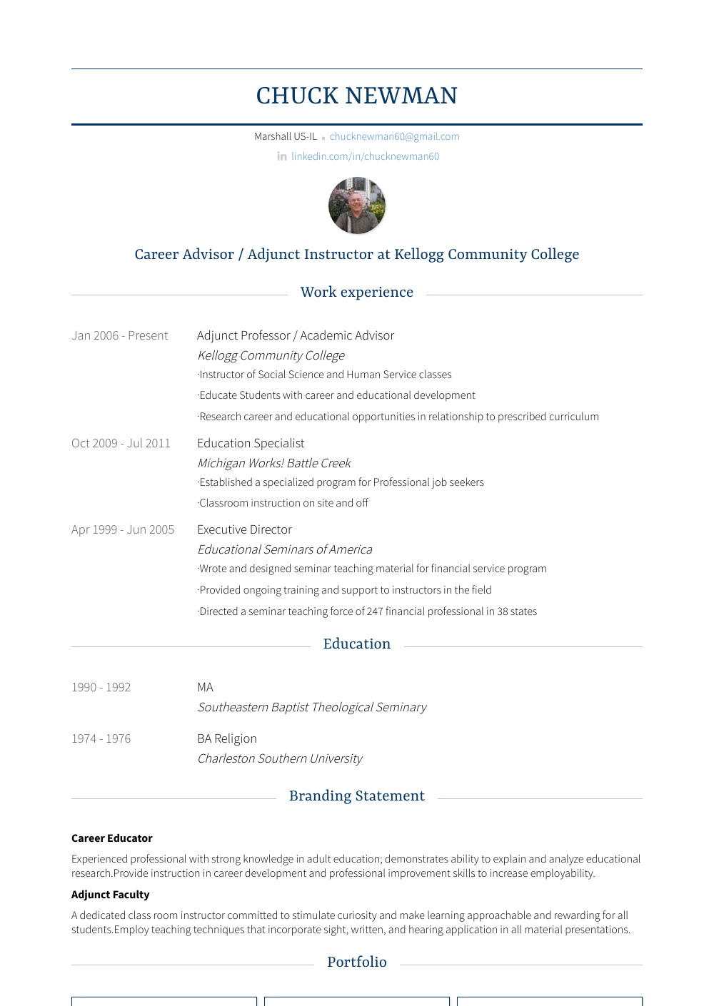 Academic Advisor Resume Sample