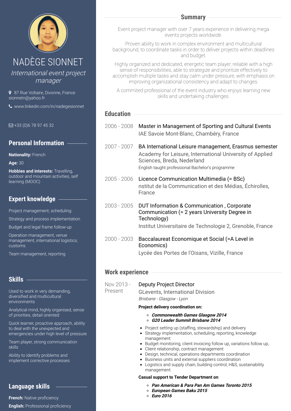 Project Director Resume Samples Amp Templates Visualcv