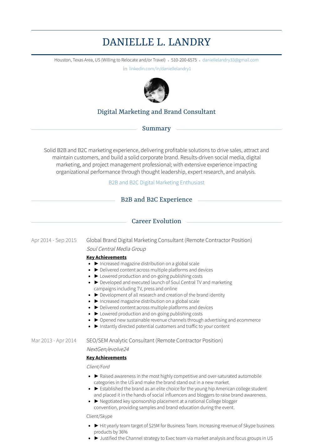 Global Brand Digital Marketing Consultant Remote Contractor Position
