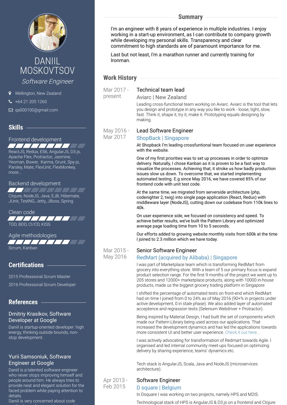 engineer  resume samples and templates  visualcv