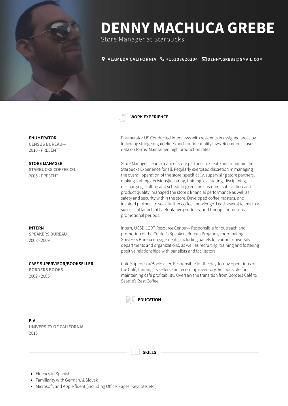 Enumerator Resume Sample
