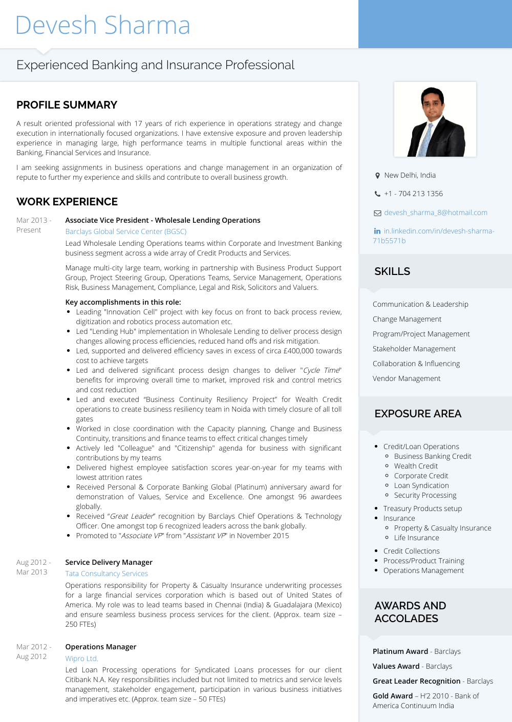 Associate Vice President - Resume Samples & Templates | VisualCV