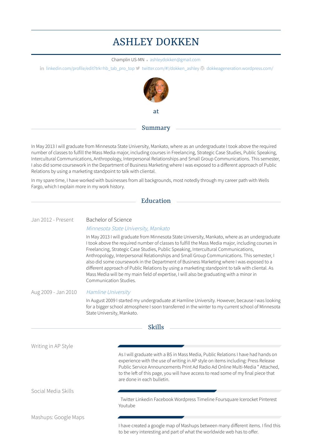 teller  resume samples and templates  visualcv