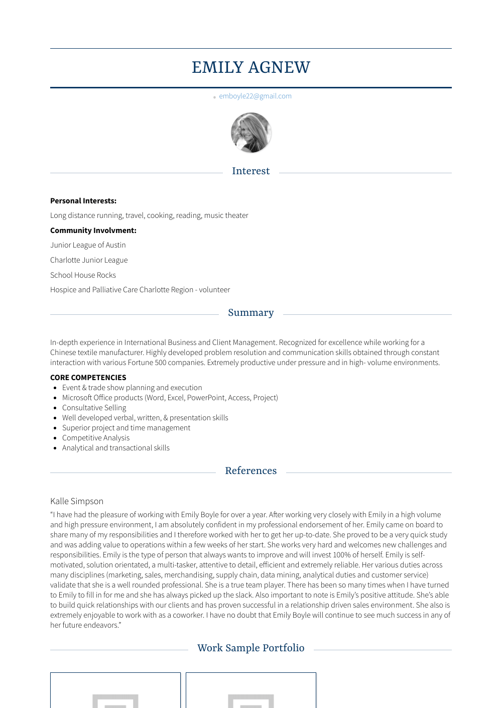 Assistant Account Executive Resume Sample