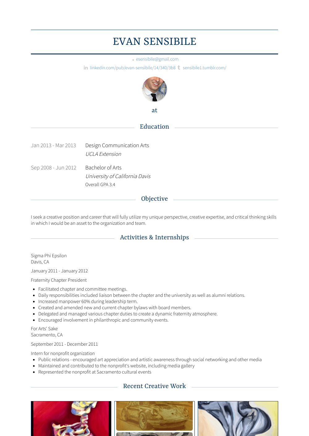 Financial Representative Resume Sample