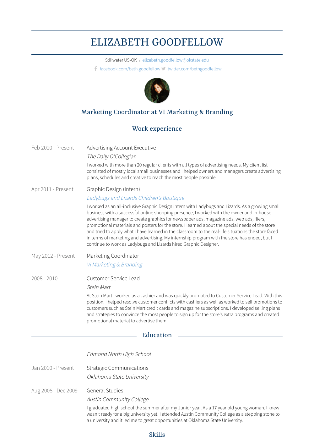 Advertising Account Executive Resume Sample