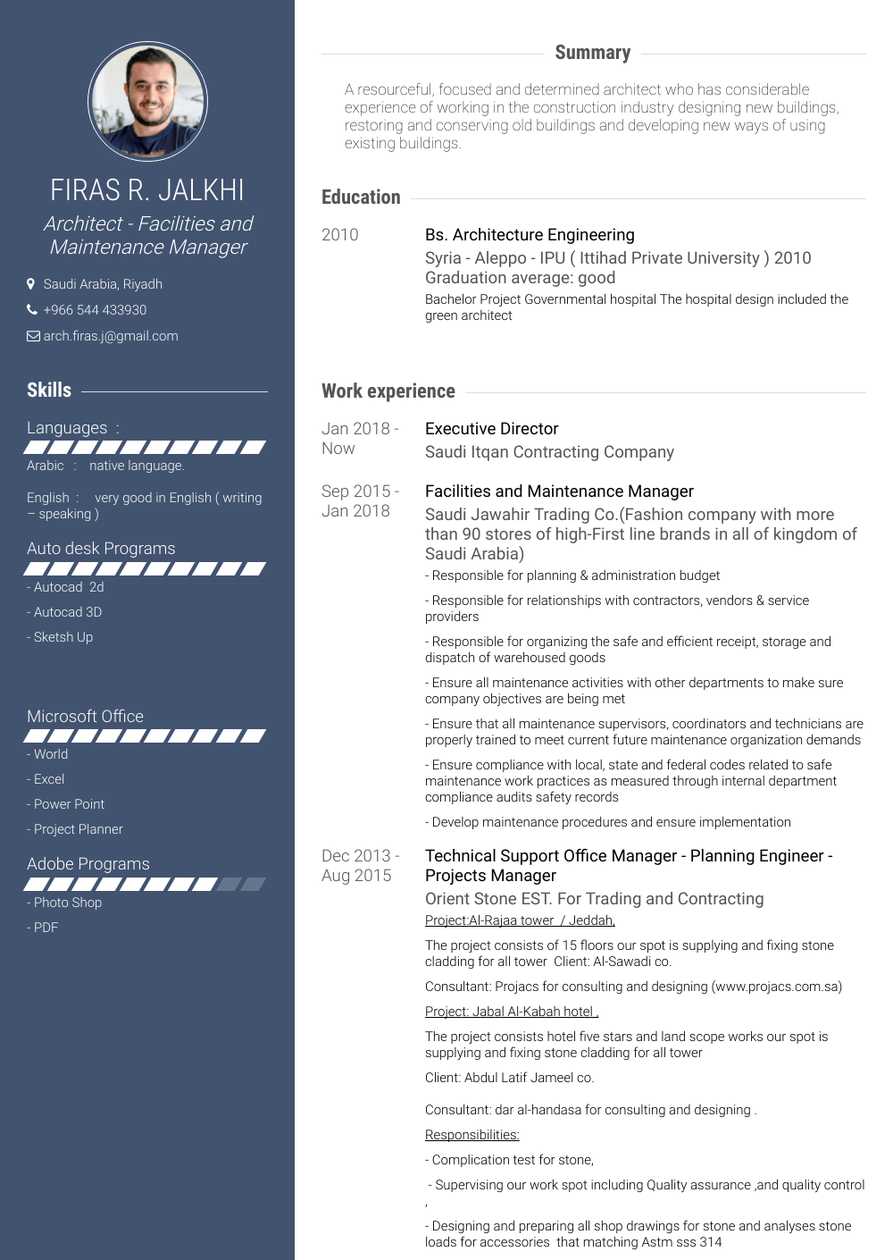 Planning Engineer Resume Sample