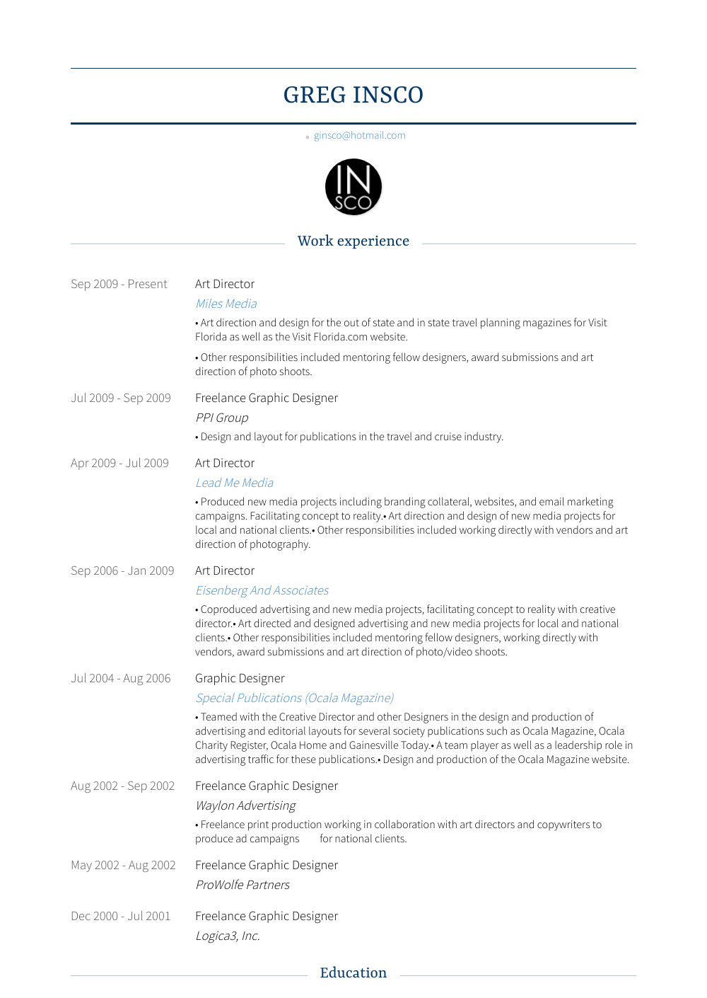 art director resume director resume samples amp templates visualcv 14249 | ginsco