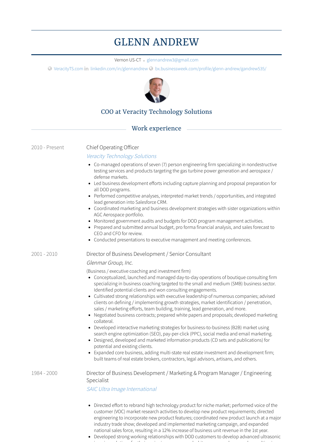 Chief Operating Officer Resume Samples Amp Templates