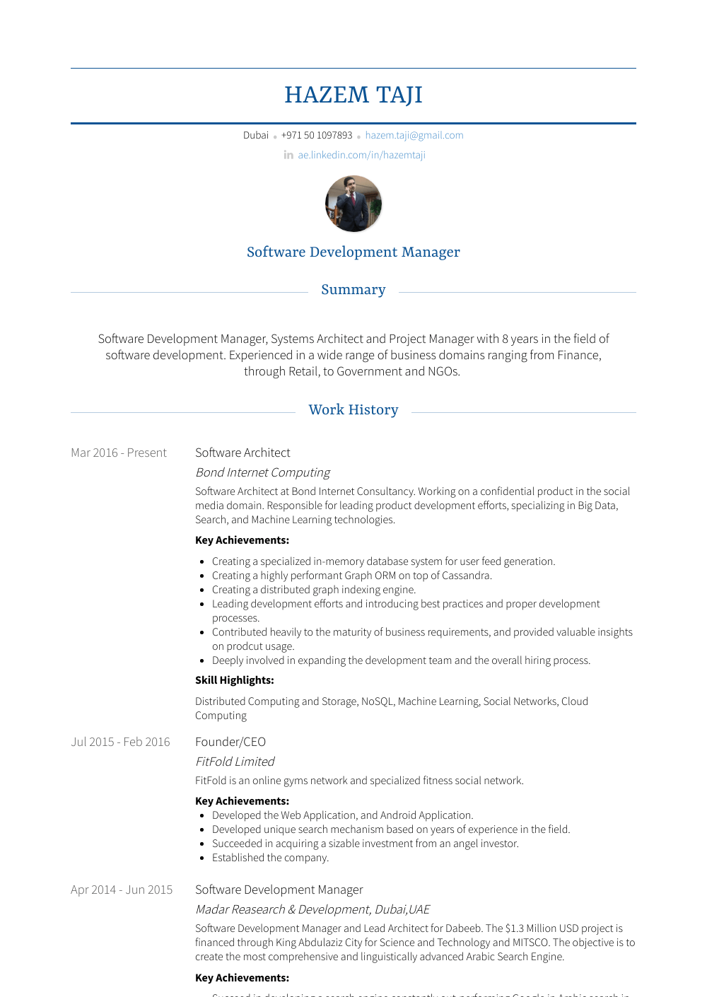 software development manager resumes