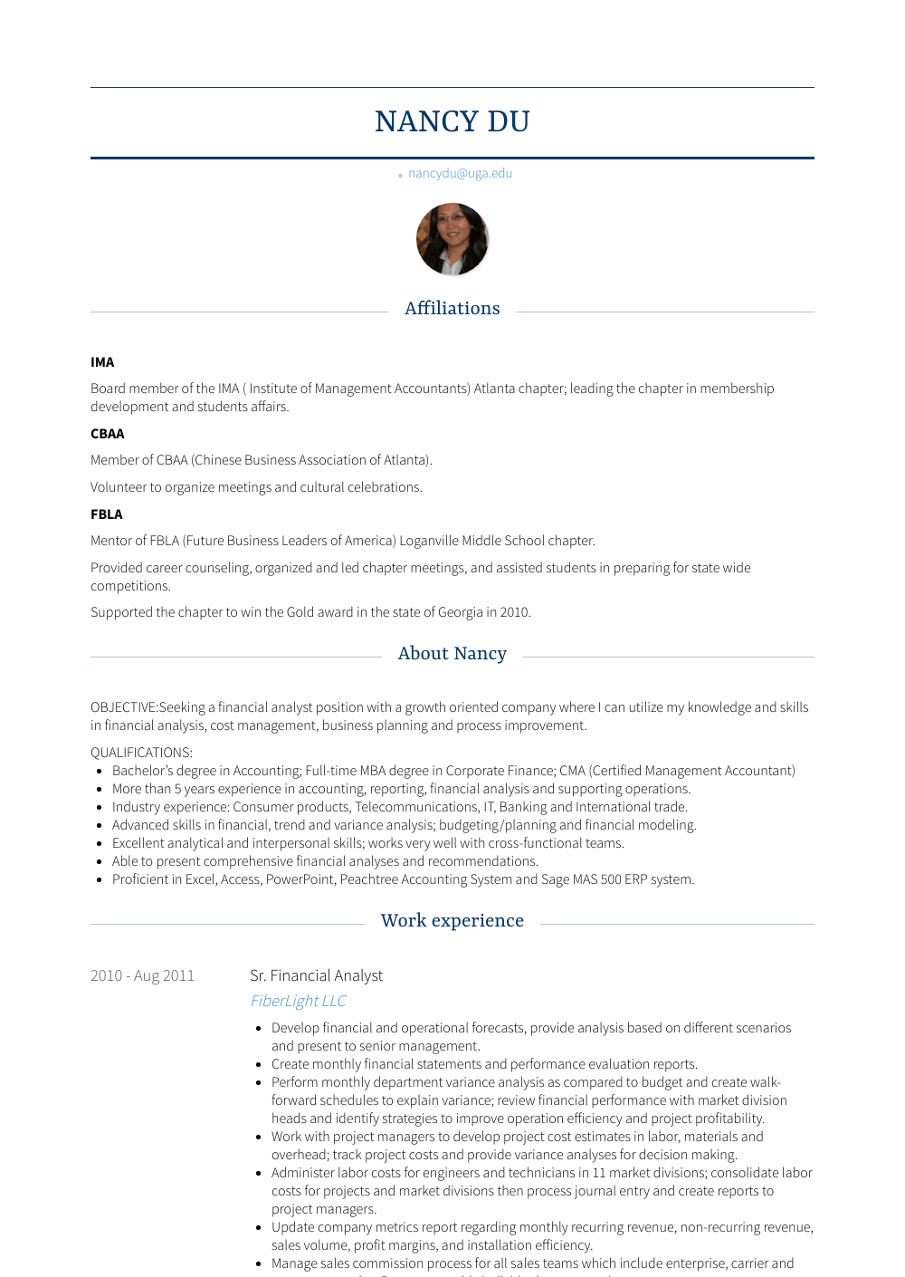 financial analyst  resume samples and templates  visualcv
