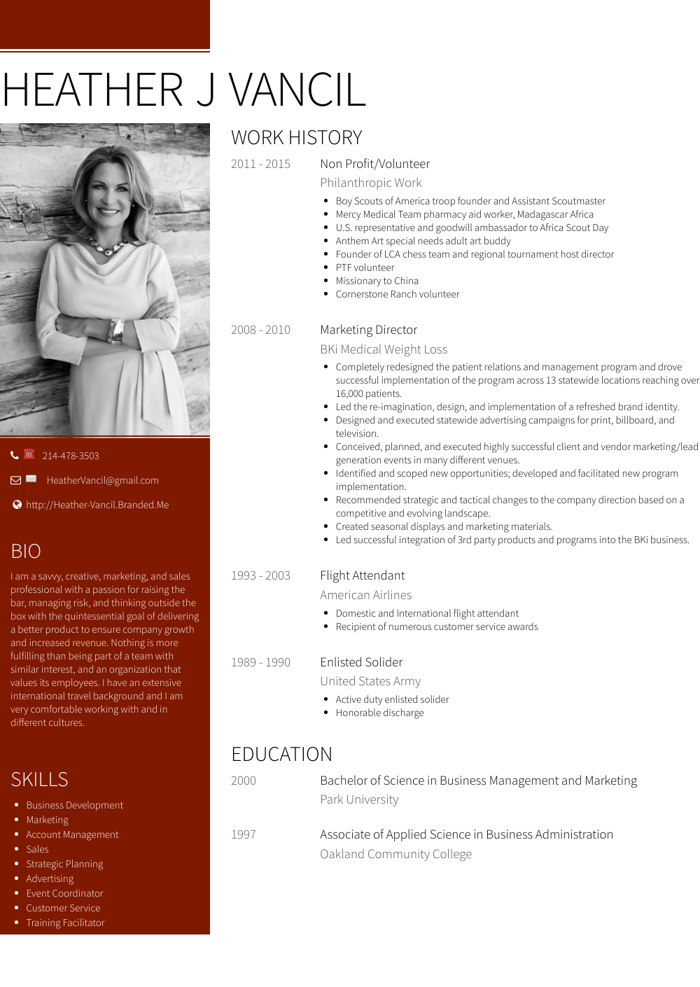 Non Profit Resume Samples And Templates Visualcv