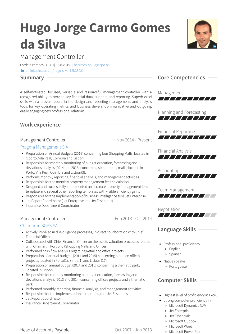 Controller Resume Samples Templates Visualcv