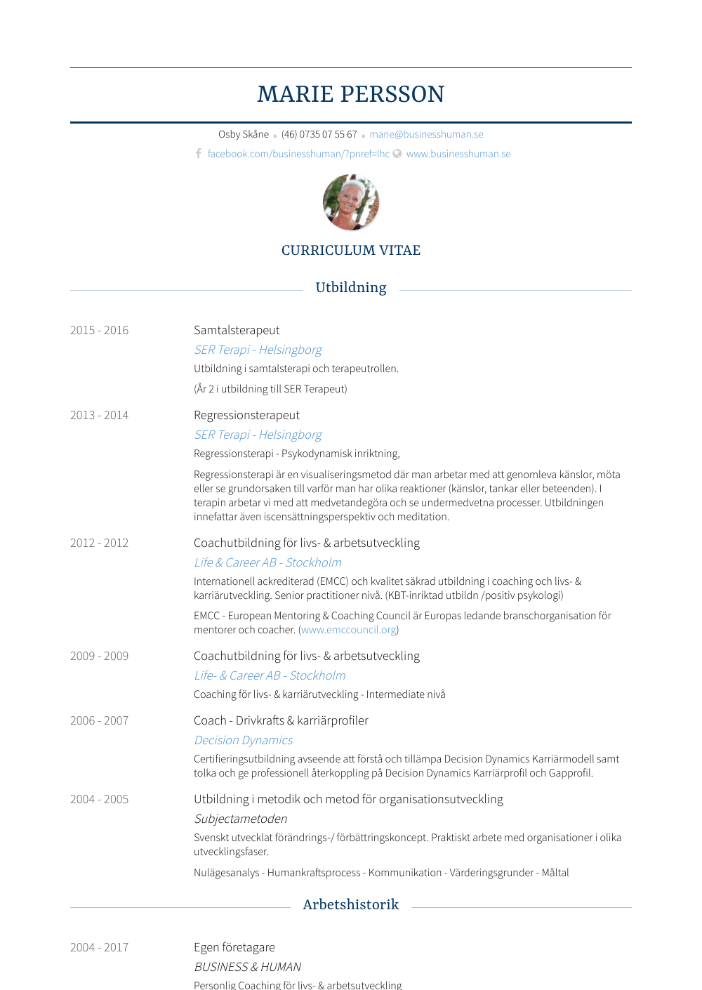 Coach Resume Sample
