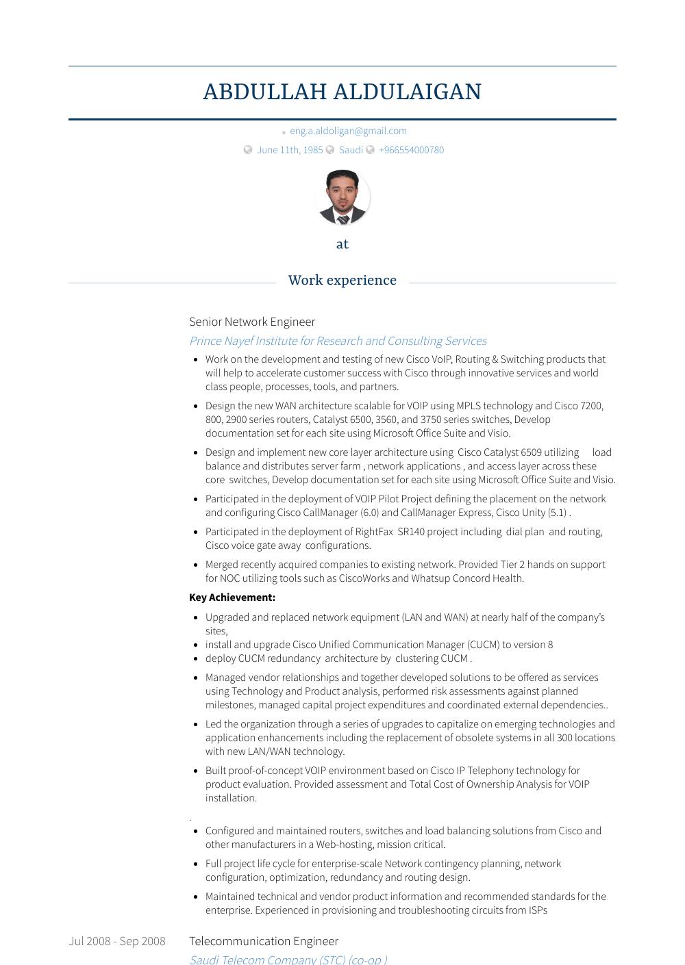 senior network engineer