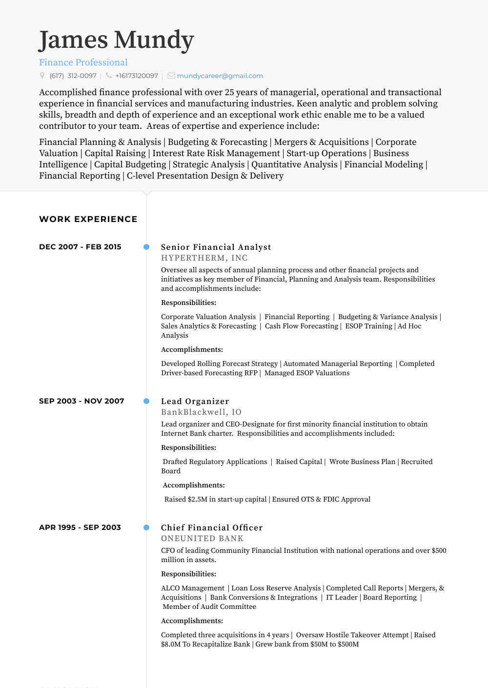 senior financial analyst  resume samples and templates