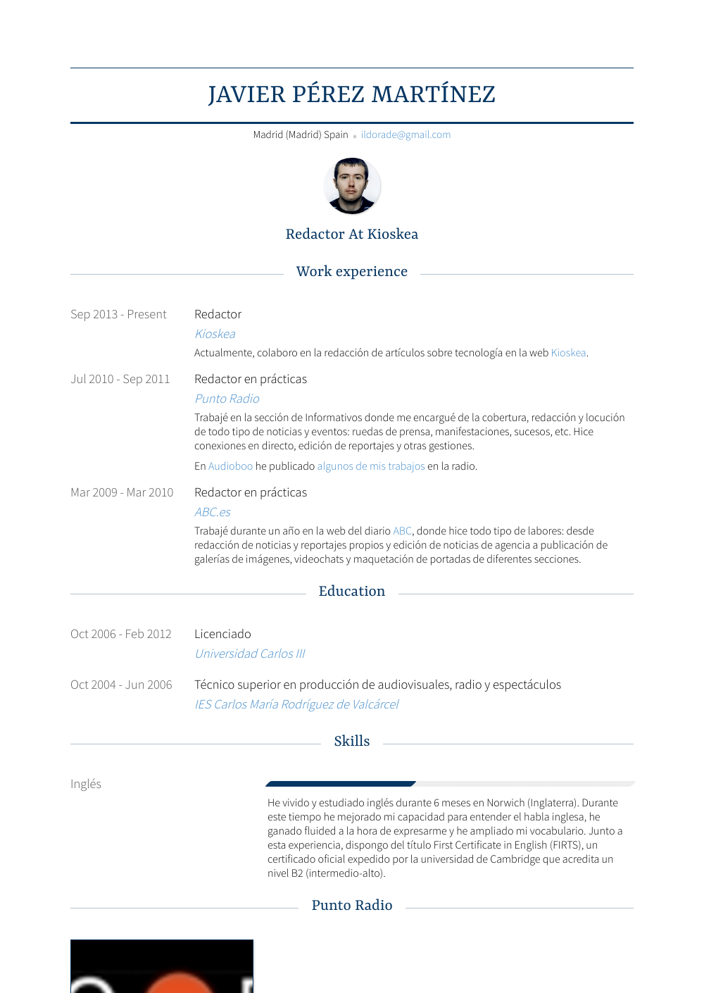 Redactor Resume Sample